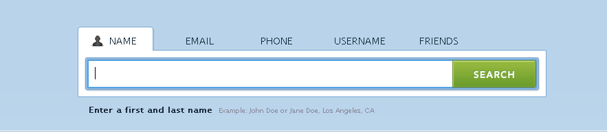 Service to Find Online Profiles by NAme or email or username