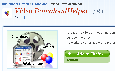 Download youtube video by firefox plugin