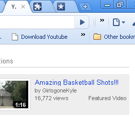Download youtube video by Google Chrome bookmarklet