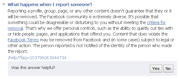 fake facebook profile report