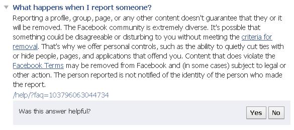 fake facebook profile report