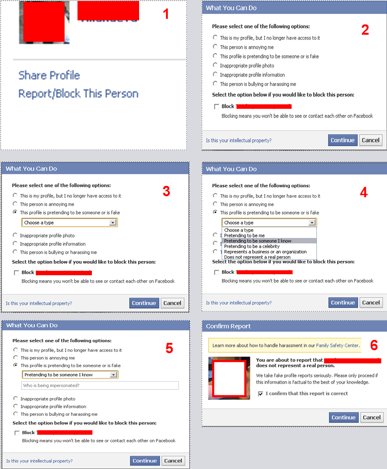 fake facebook profile report procedure