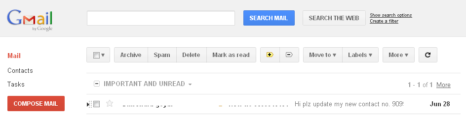 Gmail's new design 2011