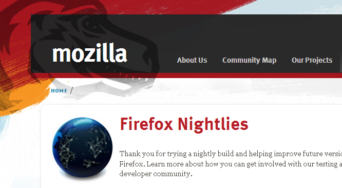 Download Firefox 8.01(Nightly Build)