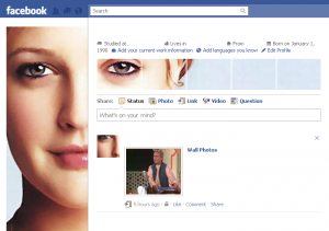 how to design amazing Facebook Profile page like Oudin using Wordcastnet