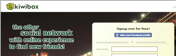 KiwiBox- alternative Facebook from this complete list of Facebook like websites