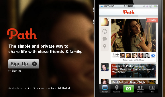 Path is an alternative Facebook  website