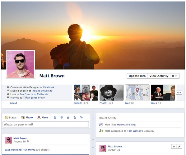 Sign Up for Facebook profile Timeline!!
