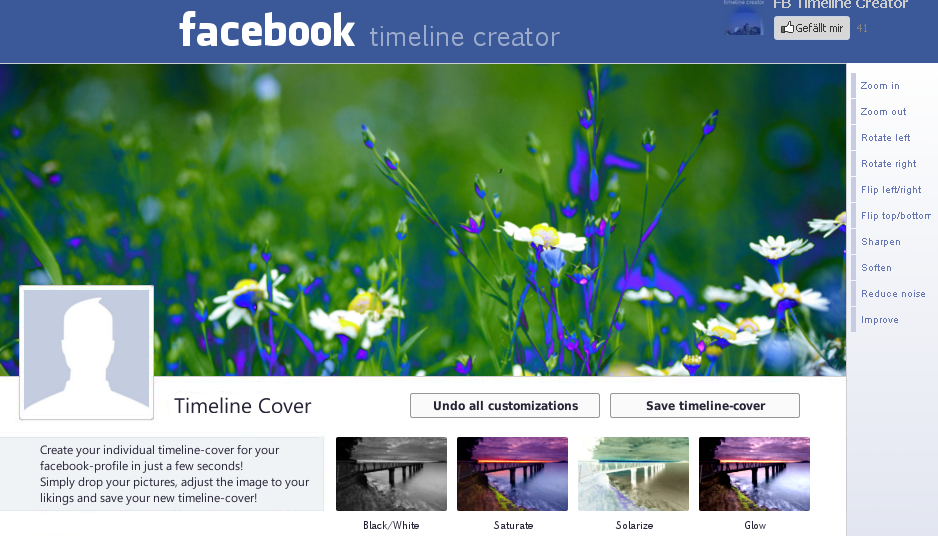 create facebook timeline background