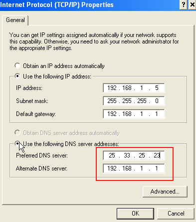 Steps to set DNS server
