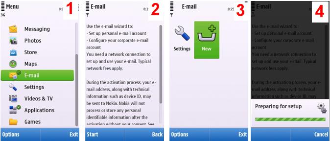 Nokia c6 MObile email setup