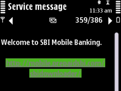 download sbi mobile banking link on your mobile in SMS