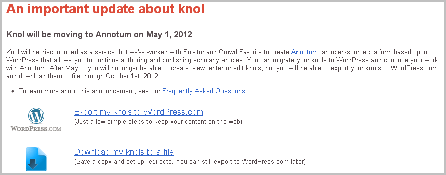 Google Knol Closing down. Download your content Knols NOW!!