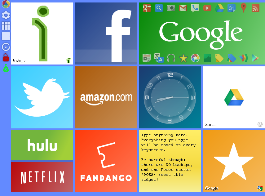 Windows 8 Metro Like New Tab Page in Google Chrome