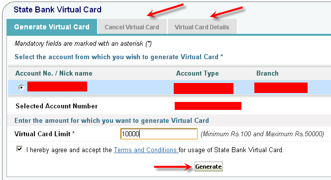 download SBI Virtual Credit Card