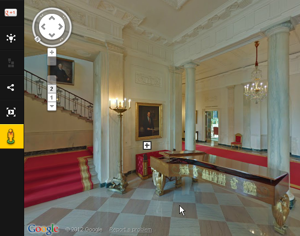 virtual tour of White House through a Google Art Project