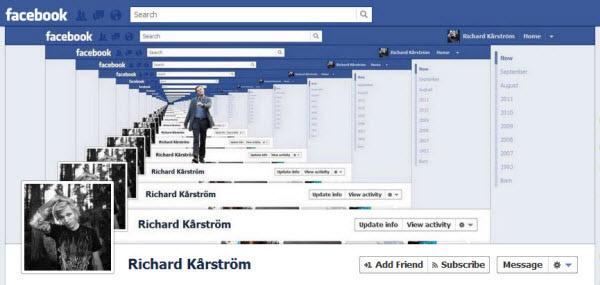 echo facebook timeline