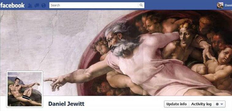 amazingly clever facebook timeline design
