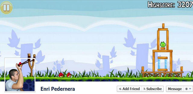 personalized Facebook Timeline cover