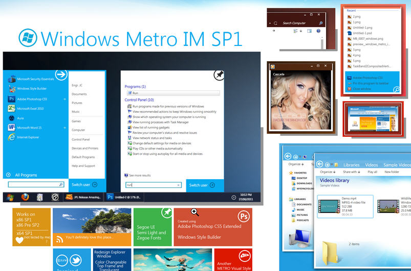 download Windows 8 Metro UI Themes For Your computer