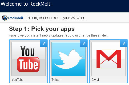 Rockmelt  browser apps