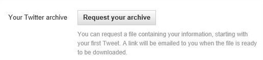 request download twitter archive