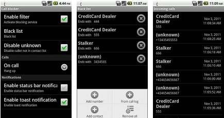 free android call SMS blocker