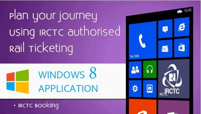 IRCTC mobile app for Windows Phones
