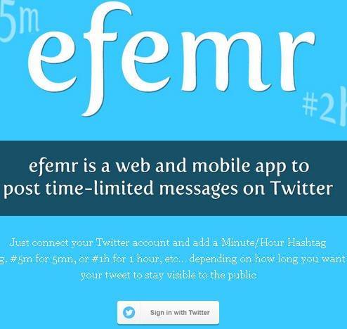 efemr self destructive tweet