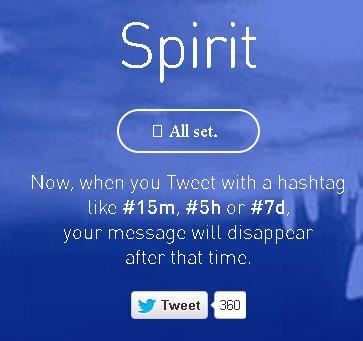 spirit self destructing tweet