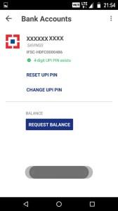 BHIM app balance check