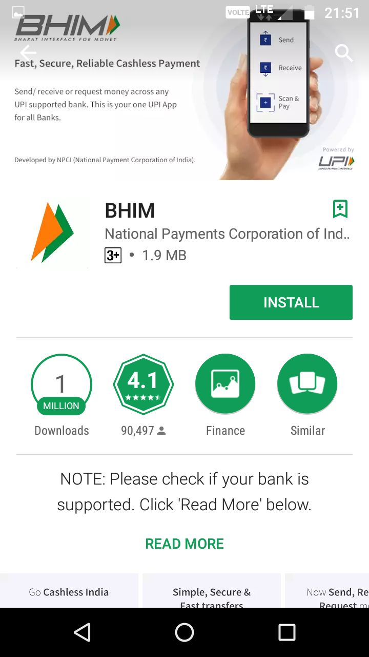 BHIM APP download and INSTALLATION